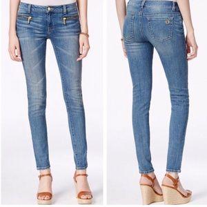 MICHAEL KORS Zip-Pocket Skinny Jeans, Size 4